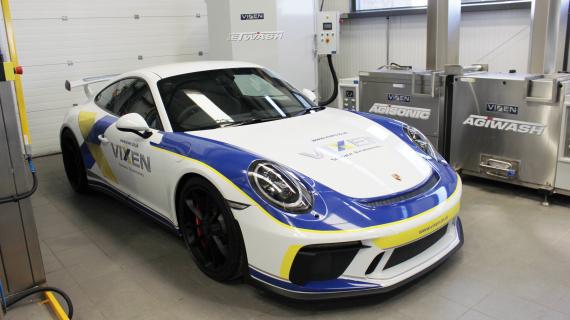 Vixen Celebrating in Style with a Porsche GT3